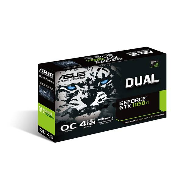Asus NVIDIA GeForce GTX 1050 TI 4GB GDDR5 DVI/HDMI/DisplayPort pci-e Video 15