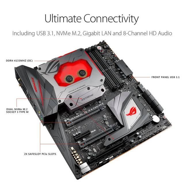 Asus ROG MAXIMUS IX EXTREME LGA1151/ Intel Z270/ DDR4/ 3-Way CrossFireX & 2-Way 14
